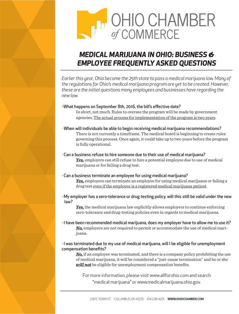Medical Marijuana is now legal in Ohio! However……   — Around The